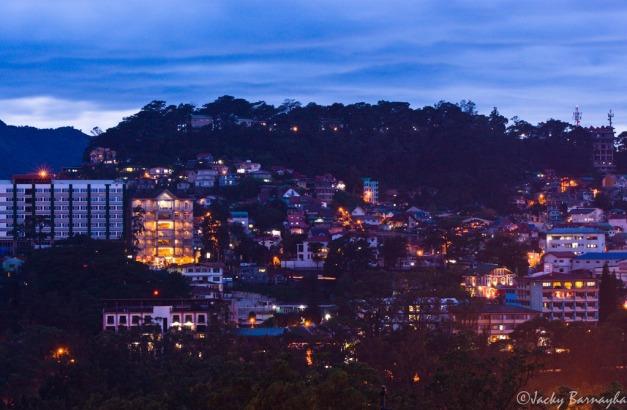 Baguio at dusk